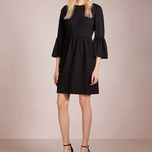 Short Black Bell Sleeve Dress by Club Monaco